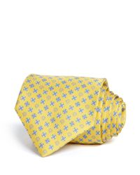 Ferragamo | Yellow Gancini And Floral Classic Tie for Men | Lyst