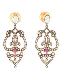 Sabine G | Metallic Ruby And Diamond Earrings | Lyst
