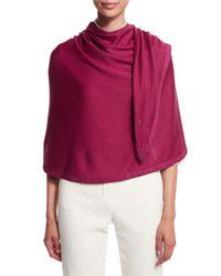Loro Piana - Purple Summer Jersey Semicircle Wrap - Lyst