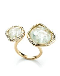 Alexis Bittar - Metallic Liquid Gold Two Stone Infinity Ring - Lyst
