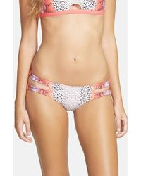 Rip Curl - Pink 'mirage Wild Child' Reversible Bikini Bottoms - Lyst