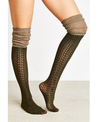 Urban Outfitters | Green Tonal Scrunch Over-the-knee Sock | Lyst