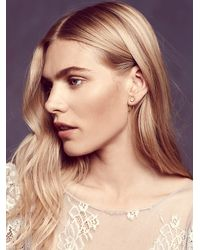 Free People - Metallic Katie Diamond Womens Lana Studs - Lyst