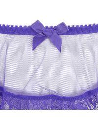 L'Agent by Agent Provocateur | Purple Women's Idalia Suspenders | Lyst
