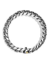 David Yurman | Metallic Curb Chain Narrow Bracelet With Gold | Lyst