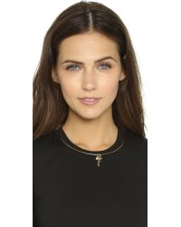 Rebecca Minkoff | Metallic Crystal & Imitation Pearl Collar Necklace | Lyst