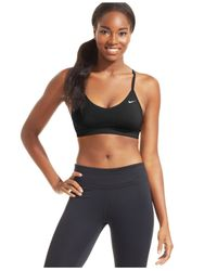 Nike | Black Pro Indy Padded Low-impact Sports Bra | Lyst