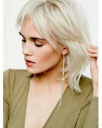 Free People | Metallic Womens Keystone Shoulder Duster | Lyst