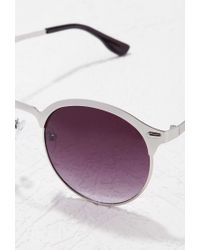 Forever 21 - Gray Classic Half-bridge Sunglasses - Lyst