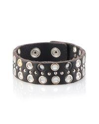DIESEL - Black Apunky Bracelet for Men - Lyst