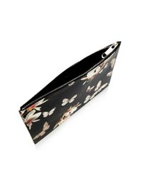 Givenchy - Black Floral Print Clutch - Lyst