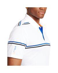 Ralph Lauren - White Striped Polo Shirt for Men - Lyst