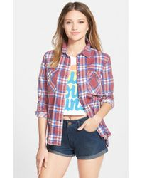 Billabong - Black 'out Of Bounds' Flannel Shirt - Lyst