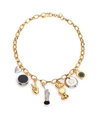 Marc By Marc Jacobs | Metallic Lost & Found Ny Trinket Necklace | Lyst