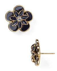 kate spade new york - Blue Graceful Floral Large Stud Earrings - Lyst