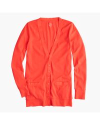 J.Crew | Red Perfect-fit Mixed-tape Cardigan Sweater | Lyst