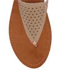 Lucky Brand | Brown Abell Leather Sandals | Lyst
