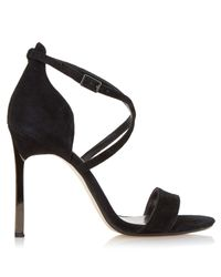 Dune - Black Mojito Metal Heel Strappy Sandal - Lyst