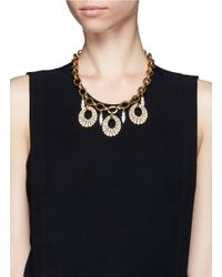 Lulu Frost - Metallic Oval Lumiere Necklace - Lyst