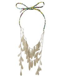 Etro | Metallic Dangly Leaves Rope Necklaces | Lyst