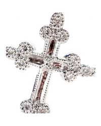 Stone - Metallic Devotion 18kt White Gold Ring With White Diamonds - Lyst