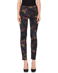 7 For All Mankind - Green Casual Trouser - Lyst
