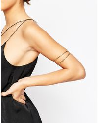 ASOS - Metallic Sleek Arm Cuff - Lyst