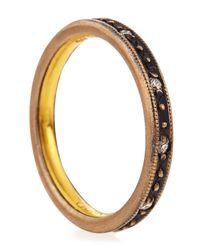 Gurhan - Brown Texturededge Diamond Band Ring Size 7 - Lyst