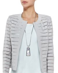 Lafayette 148 New York | Gray Long Mirror Pendant Necklace | Lyst