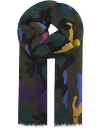 Valentino - Multicolor Camo Scarf for Men - Lyst
