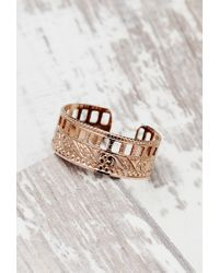 Forever 21 | Pink Shashi Etched Cutout Ring | Lyst