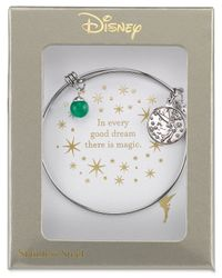 Disney | Metallic Tinkerbell Dreaming Of You Bangle Bracelet In Sterling Silver | Lyst