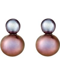 Grace Lee | Pink Women's Twin-pearl Stud Earrings | Lyst