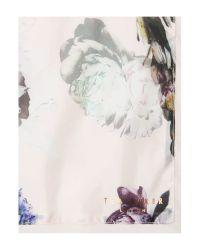 Ted Baker | Pink Torchlit Floral Split Scarf | Lyst