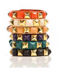 Linea Pelle | Orange Pyramid Stud Bracelet | Lyst