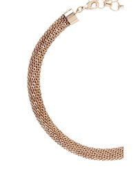 BCBGMAXAZRIA - Pink Looped Chain Necklace - Lyst