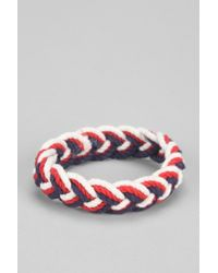 Urban Outfitters - Blue Sailor Knot Americana Bracelet for Men - Lyst
