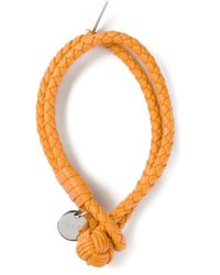 Bottega Veneta - Orange Intrecciato Bracelet - Lyst