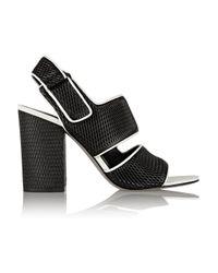Alexander Wang - Black Sara Mesh-Effect Leather Sandals - Lyst