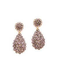 Oscar de la Renta - Purple Teardrop Clip On Earrings Lilac - Lyst
