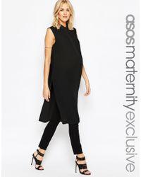 ASOS - Black Sleeveless Longline Maxi Blouse - Lyst