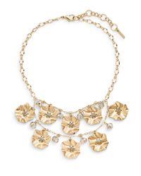 Saks Fifth Avenue | Metallic Tiered Flower Bib Necklace | Lyst