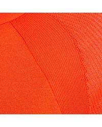 River Island - Red Mesh Long Sleeve Bodycon Dress - Lyst