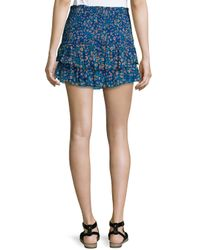 Étoile Isabel Marant - Multicolor Serek Ruffled Silk Mini Skirt - Lyst