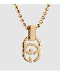 Gucci - Metallic Gold Running G Necklace - Lyst