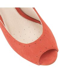 Lotus - Orange Faith Peep Toe Shoes - Lyst