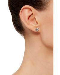 Noor Fares   Gray Blue Moonstone Tilsam Eclipse Stud Earrings   Lyst