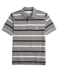 Brooks Brothers - Gray Original Fit Multistripe Polo Shirt for Men - Lyst