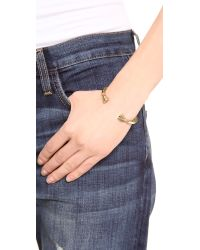 Giles & Brother | Metallic Skinny Hooves Cuff Bracelet - Antique Brass | Lyst