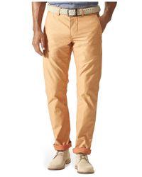Dockers | Orange Slim Fit Alpha Khaki Textured Flat Front Pants for Men | Lyst